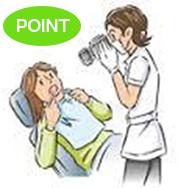 お口の中を記録する高画質の一眼レフカメラ